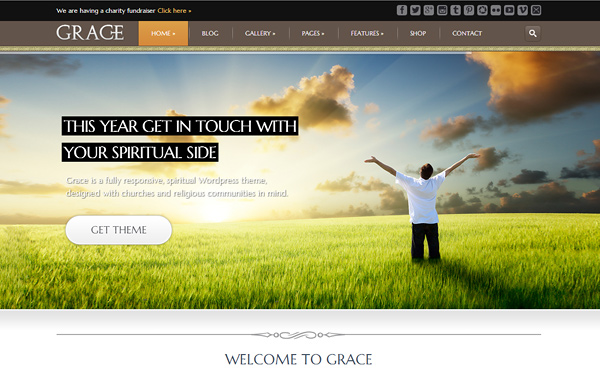 grace 20 Excellent Wordpress Themes for Churches