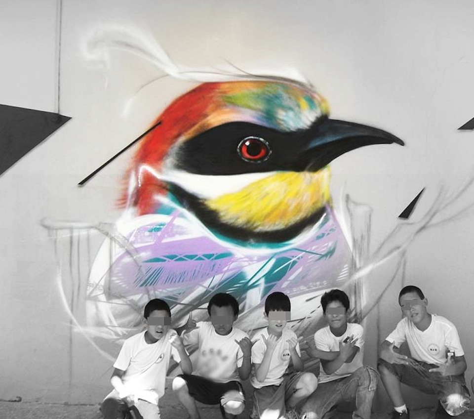 graffiti birds by brazilian artist l7m 10 Graffiti Birds by Brazilian Artist L7M