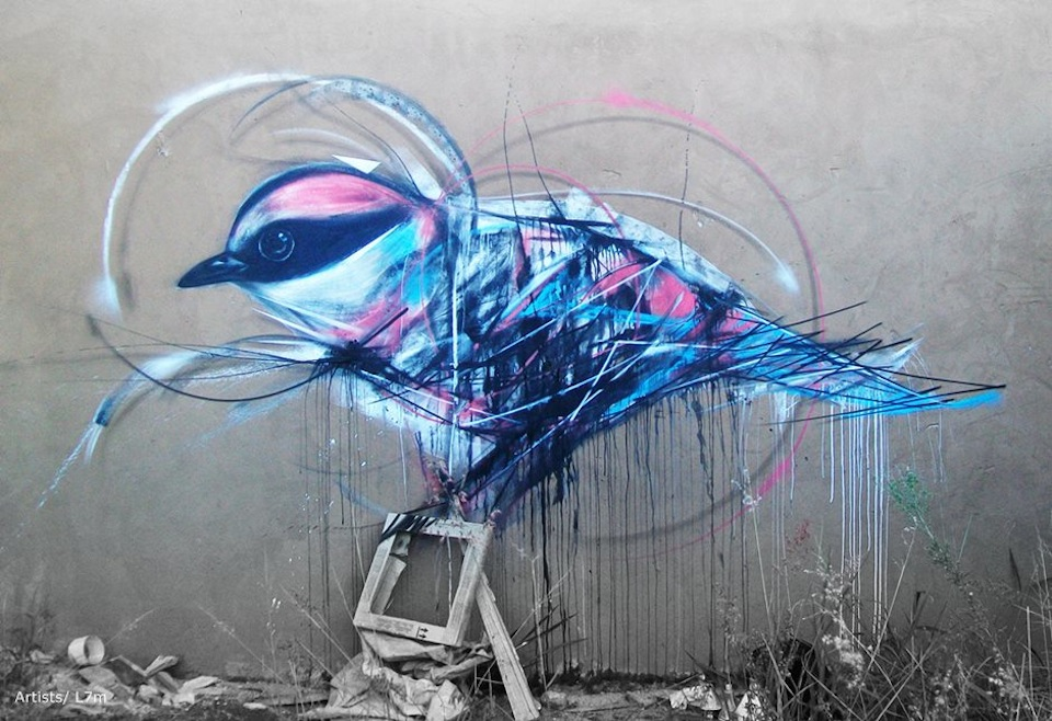graffiti birds by brazilian artist l7m 11 Graffiti Birds by Brazilian Artist L7M