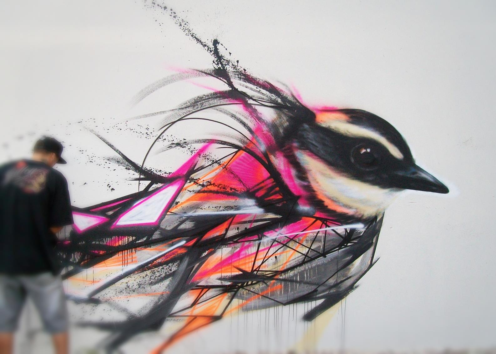 graffiti birds by brazilian artist l7m 6 Graffiti Birds by Brazilian Artist L7M