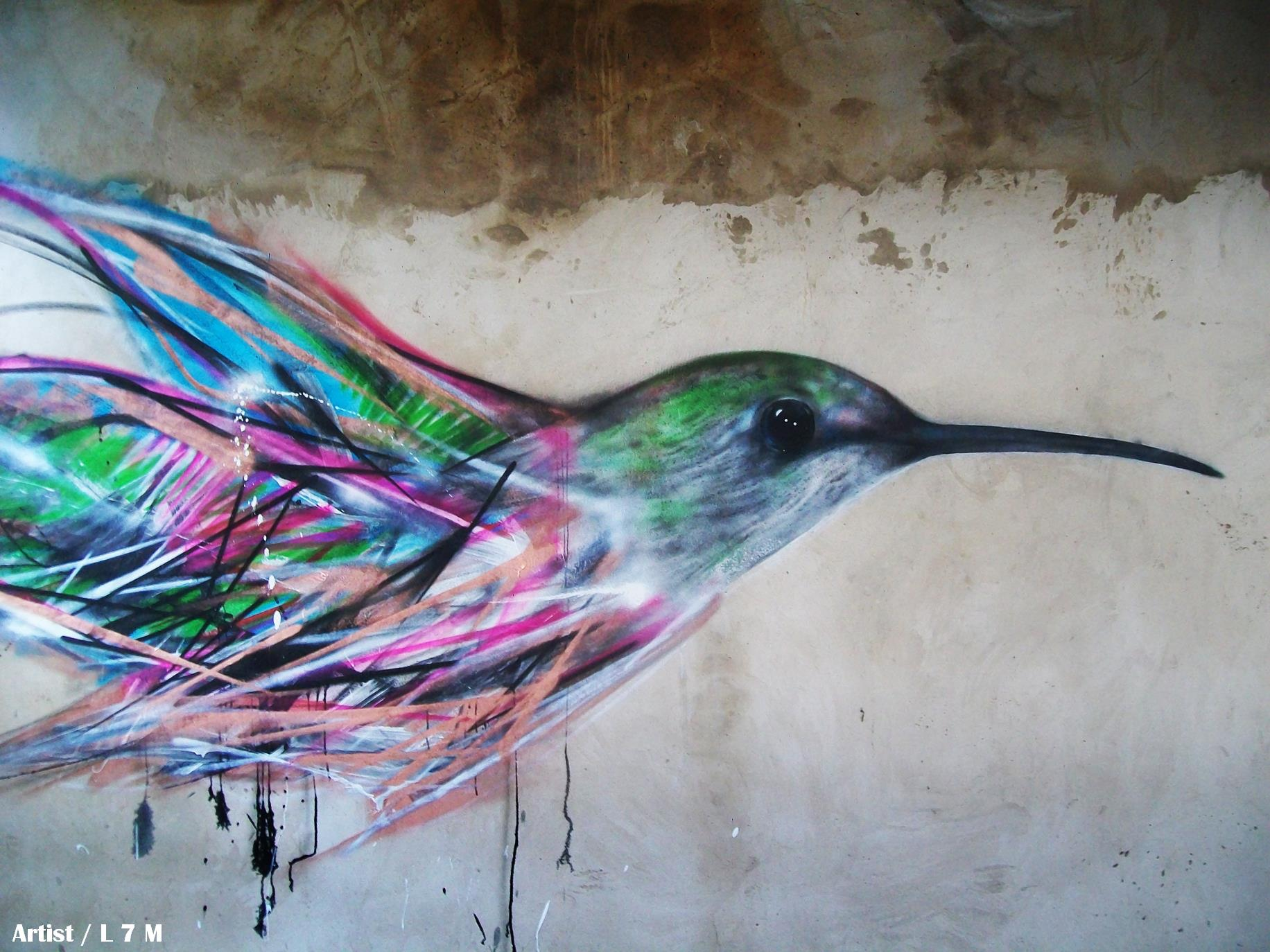 graffiti birds by brazilian artist l7m 7 Graffiti Birds by Brazilian Artist L7M