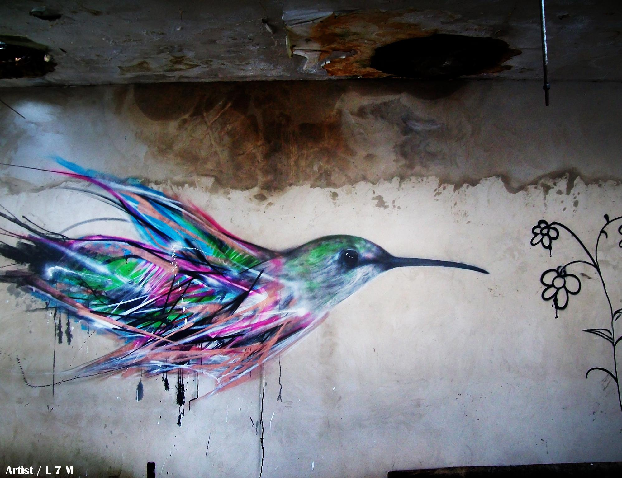 graffiti birds by brazilian artist l7m 8 Graffiti Birds by Brazilian Artist L7M