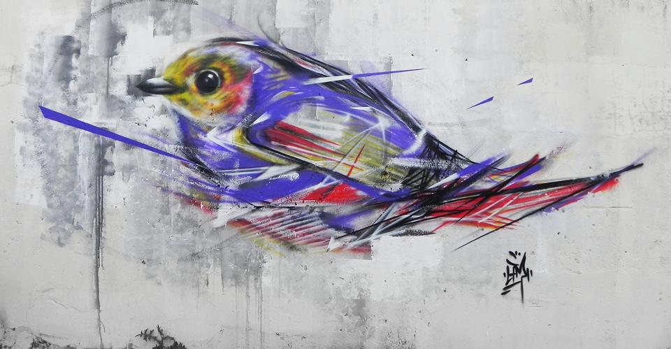 graffiti birds by brazilian artist l7m 9 Graffiti Birds by Brazilian Artist L7M