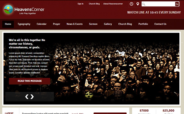 heavens corner 20 Excellent Wordpress Themes for Churches