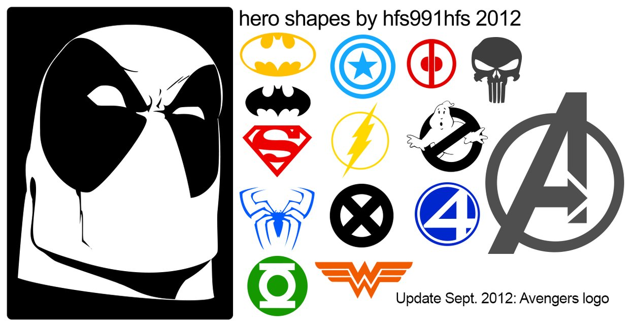hero shapes by hfs991hfs d1czoch1 2500+ Free Custom Photoshop Shapes