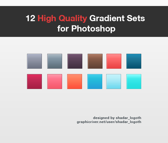 High Quality Gradient Set for Photoshop