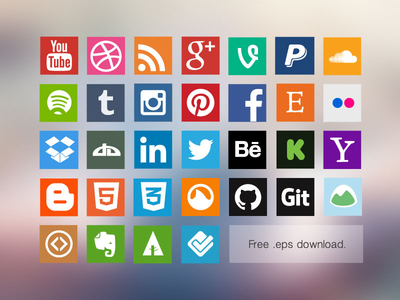 iconset 1x1 Top 40 Must Have Social Media Icon Sets from 2013