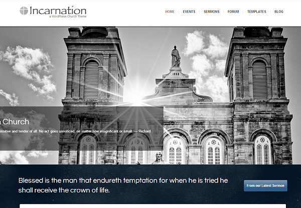 incarnation 20 Excellent Wordpress Themes for Churches