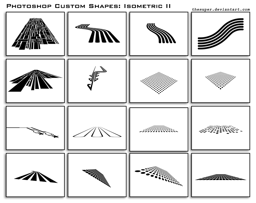 isometric shapes ii by thesuper1 2500+ Free Custom Photoshop Shapes
