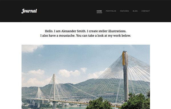 journal 20 Minimal Wordpress Themes by Authentic Themes