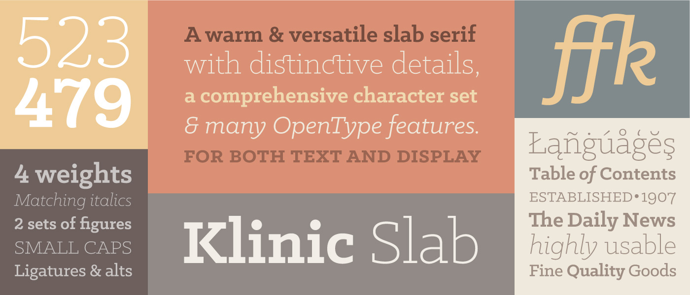 klinic banner1 Download Spree: 45 Free Fonts for Designers