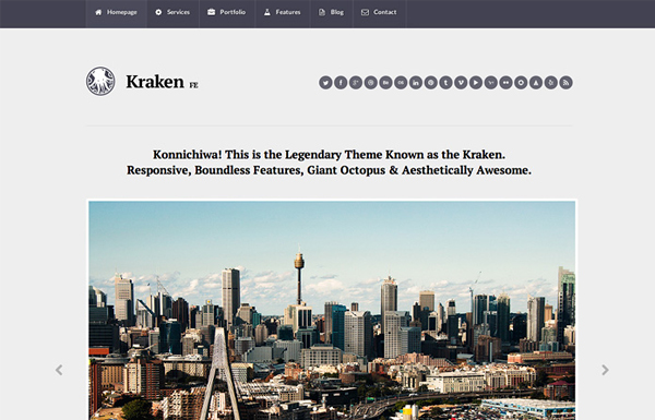 kraken 20 Minimal Wordpress Themes by Authentic Themes