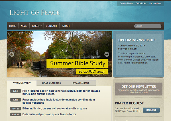 light of peace 20 Excellent Wordpress Themes for Churches