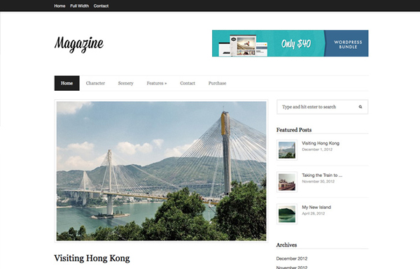 magazine 20 Minimal Wordpress Themes by Authentic Themes