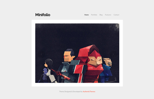 minifolio 20 Minimal Wordpress Themes by Authentic Themes
