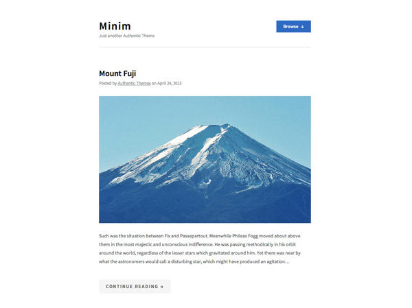 minim 20 Minimal Wordpress Themes by Authentic Themes