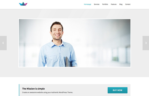 mission 20 Minimal Wordpress Themes by Authentic Themes