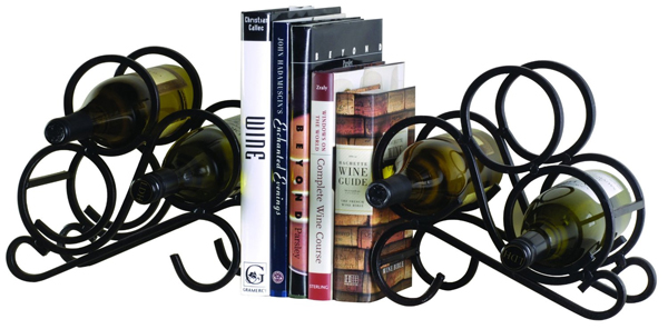 oenophilia 2 pack scroll bookend wine racks 31 Amusing Bookend Designs
