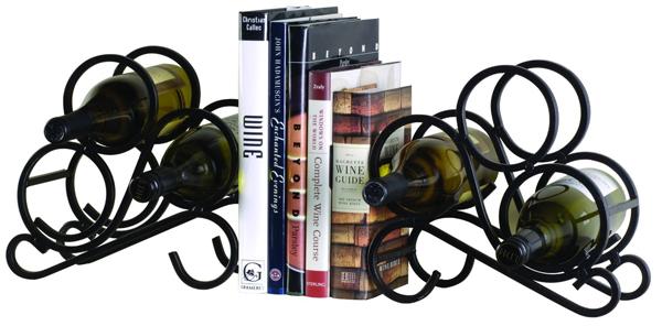 2-Pack Scroll Bookend Wine Racks