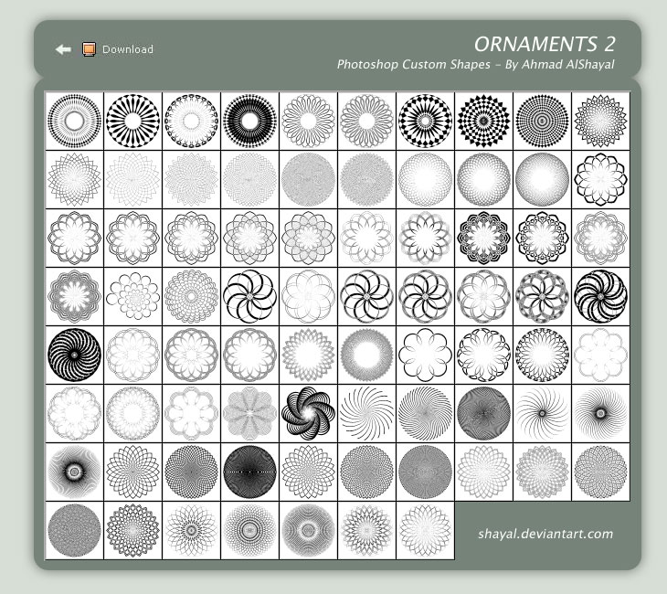 ornaments 2   ahmad alshayal by shayal1 2500+ Free Custom Photoshop Shapes