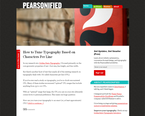 pearsonified Beauty of the Web: 60 Amazing Blog Designs