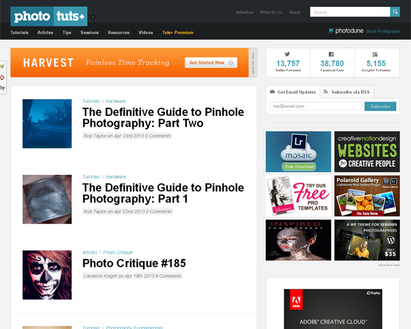 photo tuts Beauty of the Web: 60 Amazing Blog Designs