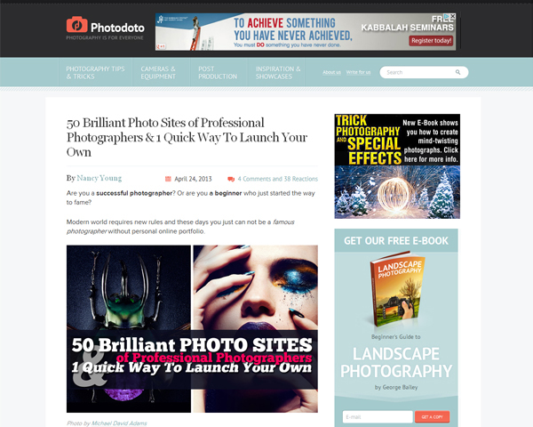 photodoto Beauty of the Web: 60 Amazing Blog Designs