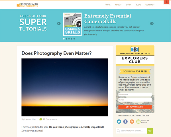 PhotographyConcentrate