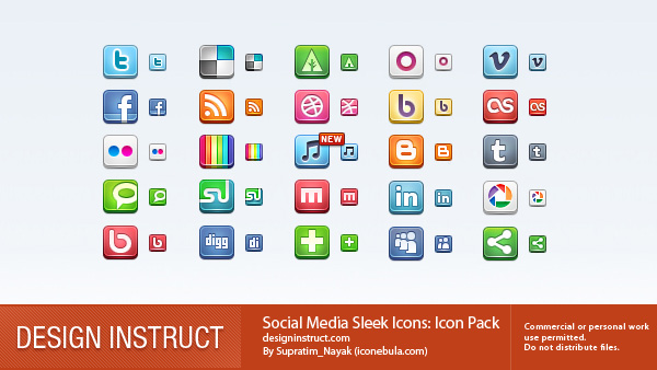 preview1 Top 40 Must Have Social Media Icon Sets from 2013