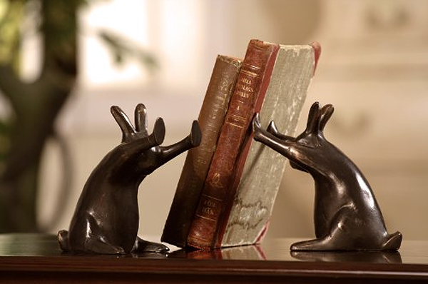 rabbit bookend 31 Amusing Bookend Designs