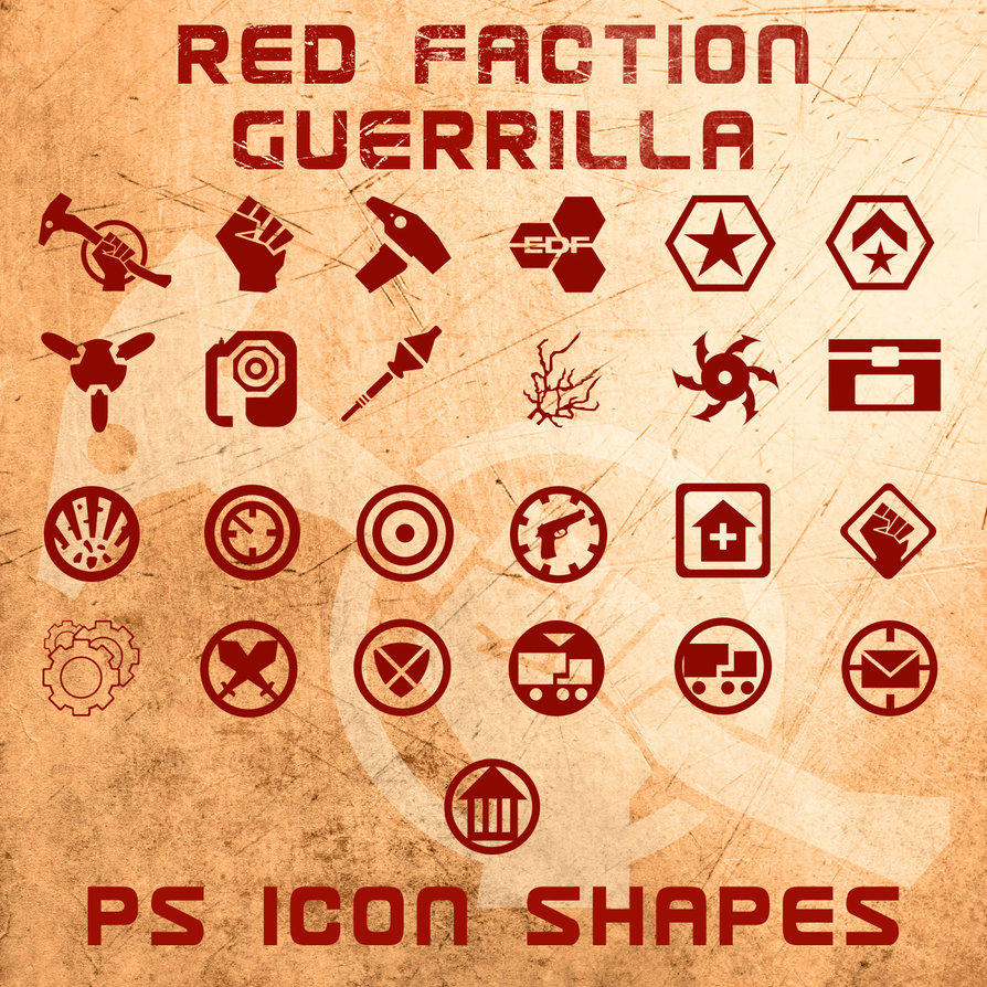 red faction guerrilla shapes by retoucher070301 2500+ Free Custom Photoshop Shapes