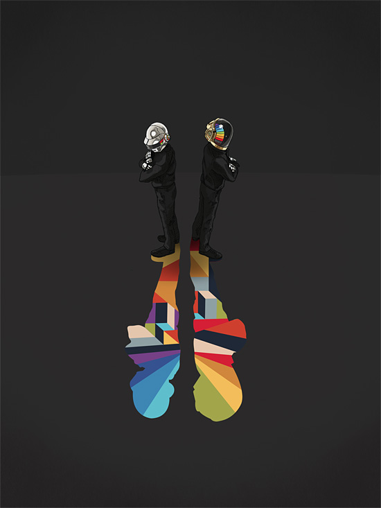 Daft Punk Shadow by Jason Ratliff