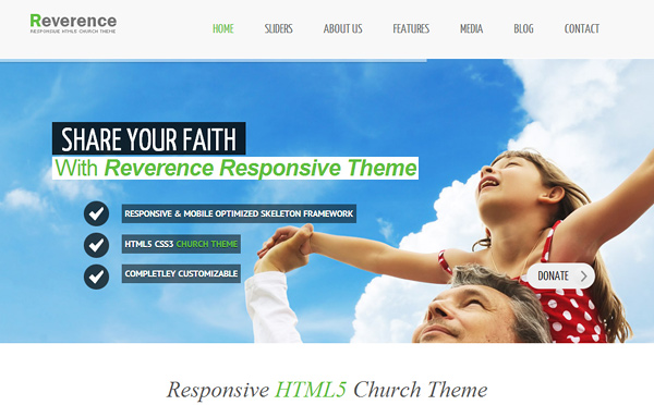 reverence 20 Excellent Wordpress Themes for Churches