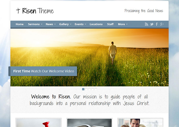 risen theme 20 Excellent Wordpress Themes for Churches