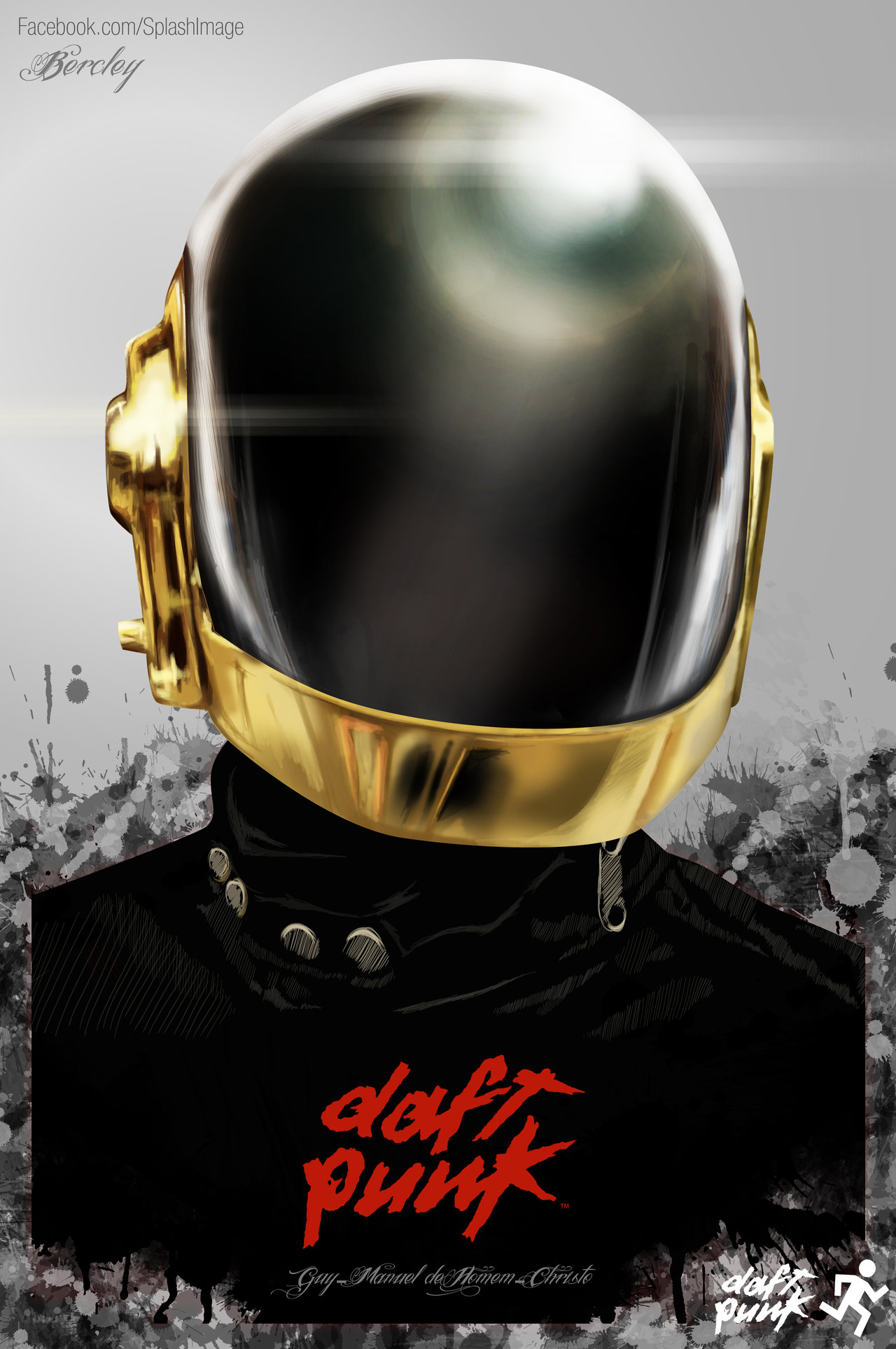 semi daft punk by bercley d4oxb9y1 A Tribute: 40 Awesome Daft Punk Artworks