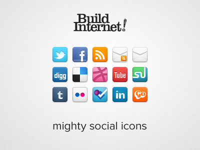 Mighty Social Icons by Sam Dunn