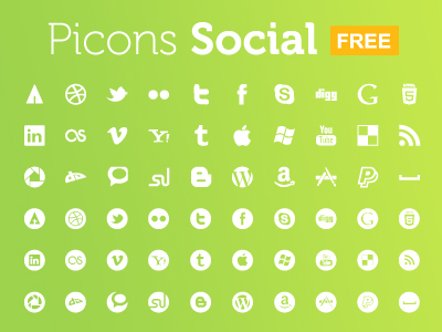 shot 12984820291 Top 40 Must Have Social Media Icon Sets from 2013
