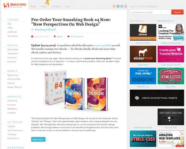 smashingmagazine Beauty of the Web: 60 Amazing Blog Designs