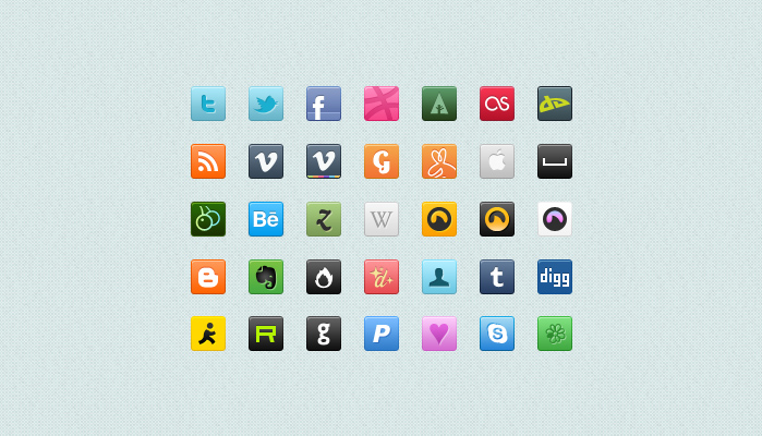 square social icons preview1 Top 40 Must Have Social Media Icon Sets from 2013