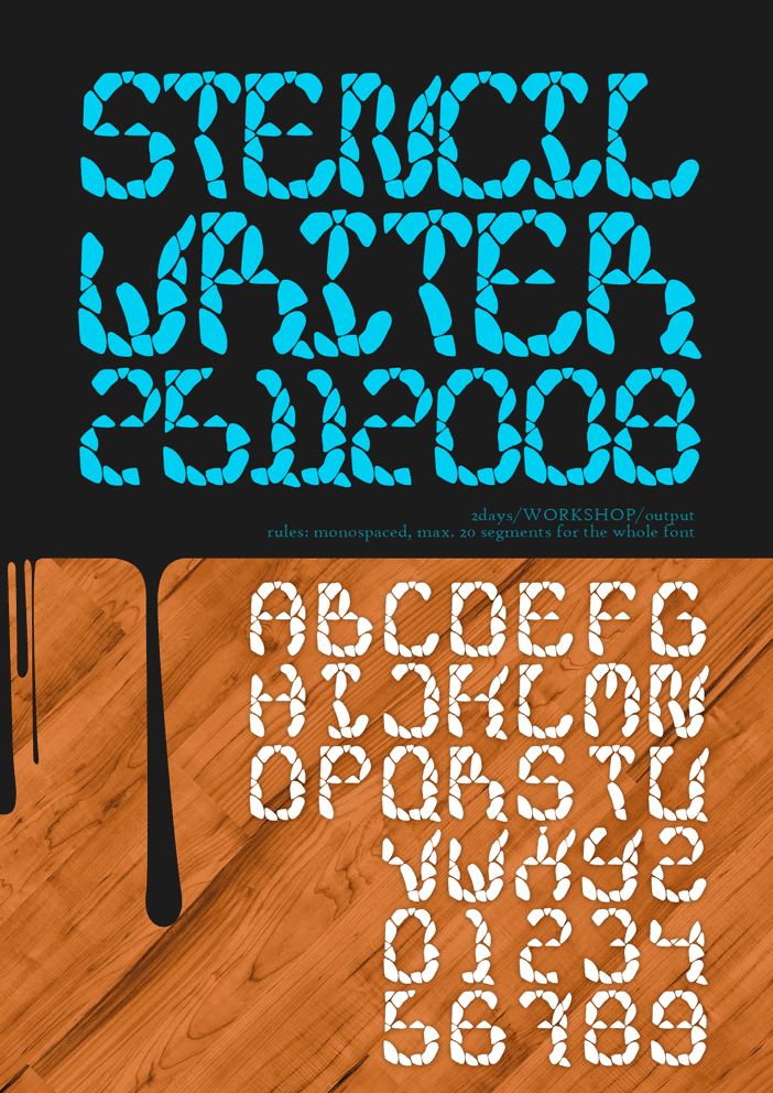 stencil writer font by ~doodle-lee-doo