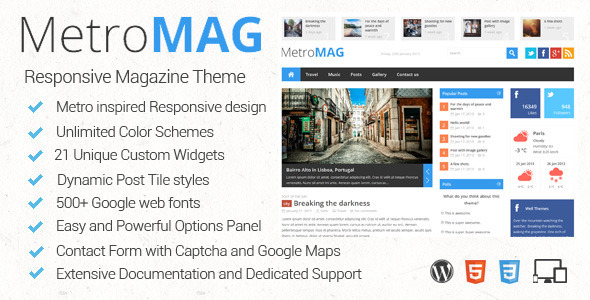tf preview   large preview1 18 Exceptional Metro Style Wordpress Themes
