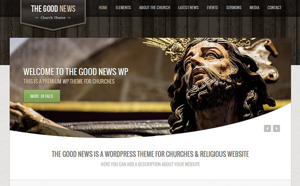 the good news 20 Excellent Wordpress Themes for Churches