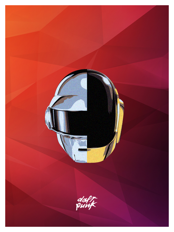 tumblr mnbcbd2y2g1qc5laro1 12801 A Tribute: 40 Awesome Daft Punk Artworks