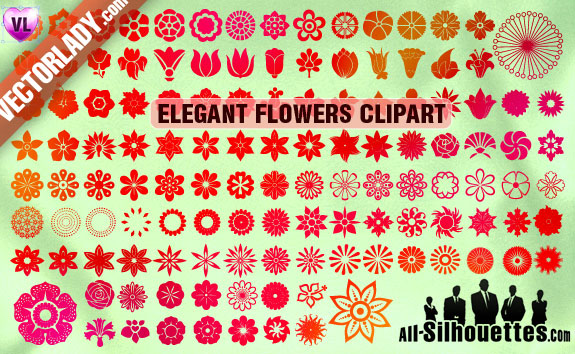 vector flowers clipart1 2500+ Free Custom Photoshop Shapes