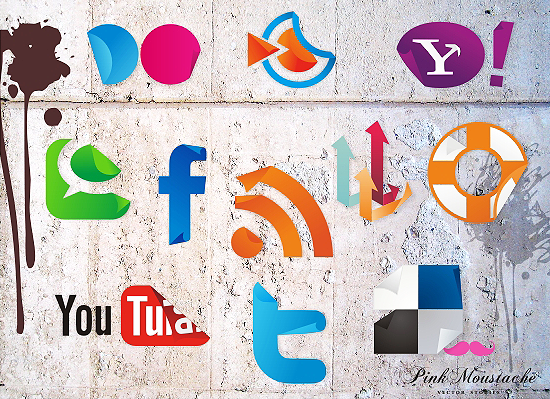 wall1 Top 40 Must Have Social Media Icon Sets from 2013
