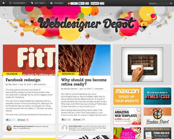 webdesignerdepot Beauty of the Web: 60 Amazing Blog Designs