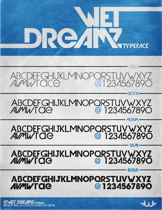 wet dreamz font by weslo111 Download Spree: 45 Free Fonts for Designers