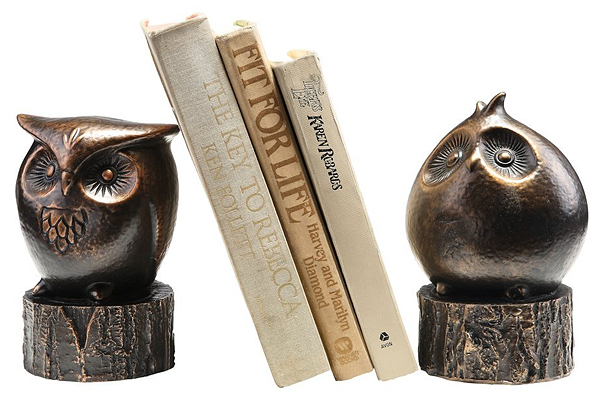 wide eyed owl bookends 31 Amusing Bookend Designs