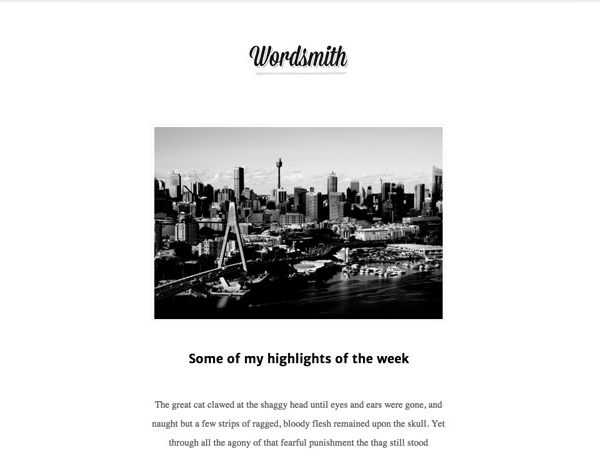 wordsmith 20 Minimal Wordpress Themes by Authentic Themes