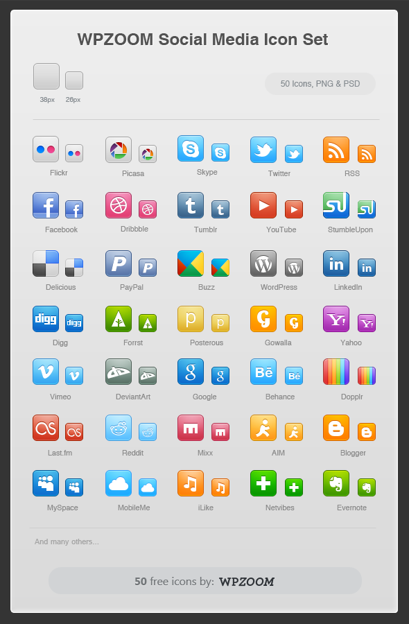 wpzoom media icons21 Top 40 Must Have Social Media Icon Sets from 2013